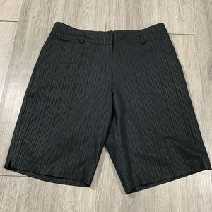 Nike Golf Women Stripe Dri Fit Black  Shorts
